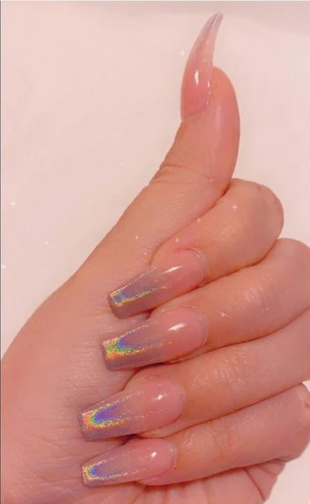 50 Glittering Acrylic Nails For Medium Length Nails And Long Nails The First Hand Fashion News For Females In 2020 French Acrylic Nails Pretty Acrylic Nails Thin Nails