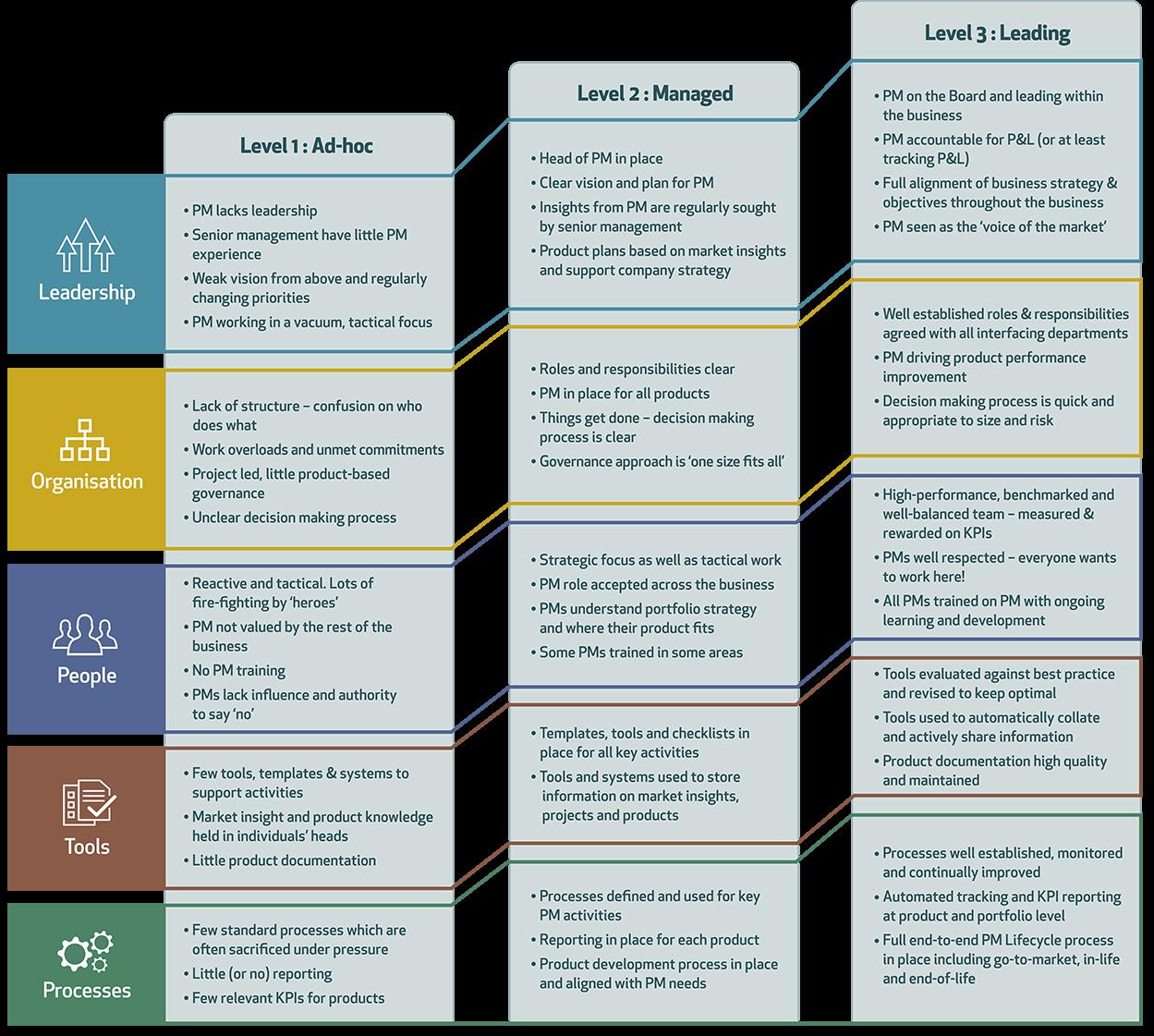 Product Management Maturity Model Business Maturity Management