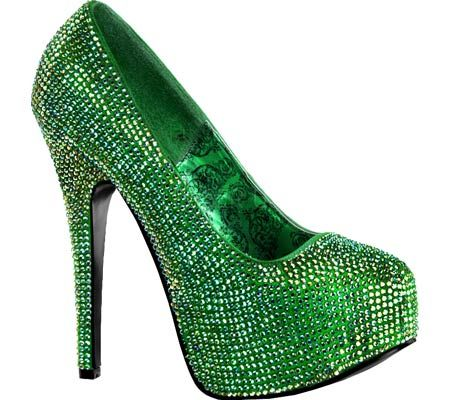 c973ba9aed02 Emerald green sparkly high heels