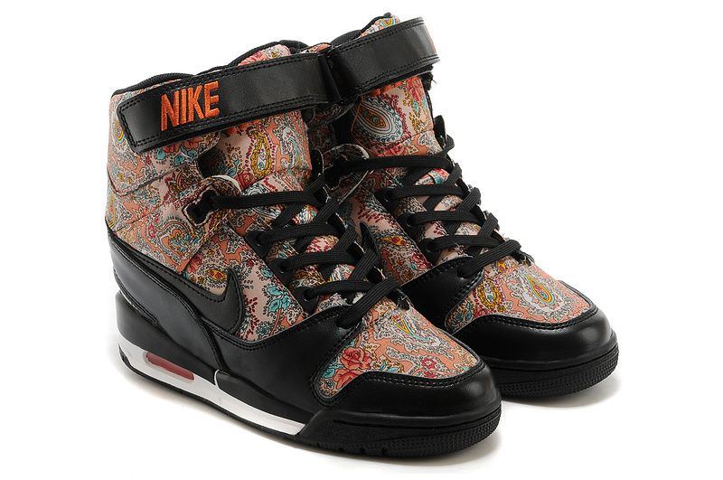 pretty nice 8275c 8f5ad Free Shipping Only 69  599410-100 Floral Nike Air Revolution Sky Hi Womens  Black