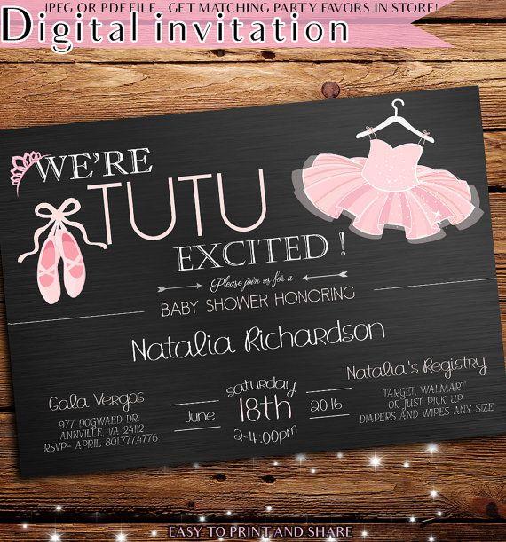 Baby Shower Invitation Tutu Baby Shower By PinkNerdPrintables