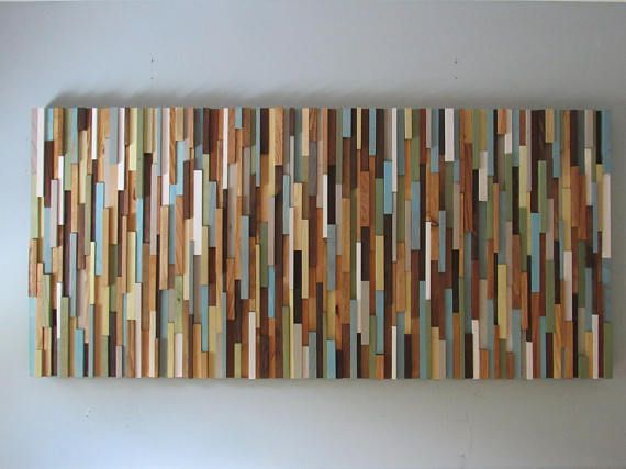 Wood Wall Art Modern Reclaimed Hanging Diy