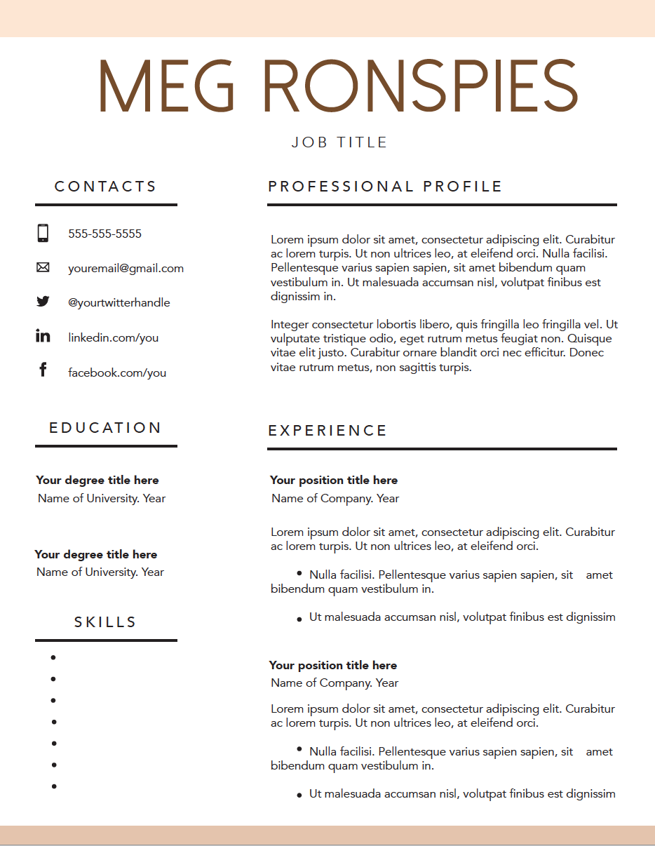 free fillable resume template mpronspies com resume pinterest
