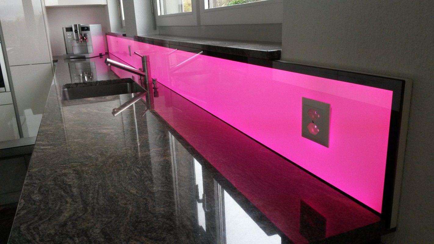 LED Küchenrückwand RGB WW, für Ihre moderne Küche | Küchenrückwand ...
