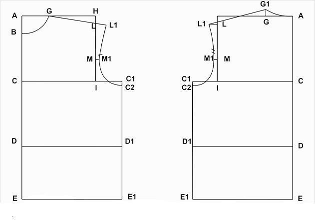 moldes para hacer mandiles | Patrones de camisa, Patrones de