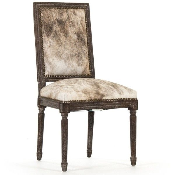 Louis Cow Hide Side Chair ($1,139) ❤ liked on Polyvore featuring ...