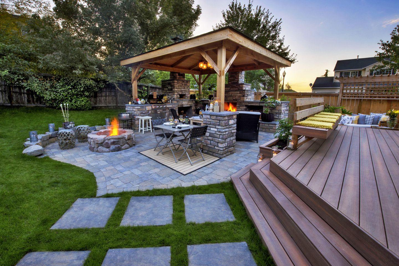 Backyard Deck Ideas Paradise Restored Landscaping In 2020 Patio Backyard Grill Gazebo