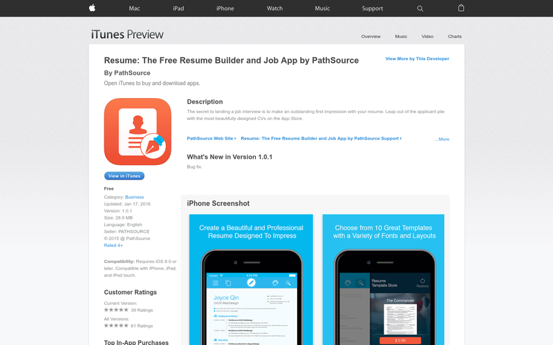 resume builder app free Professional in 2020 Resume