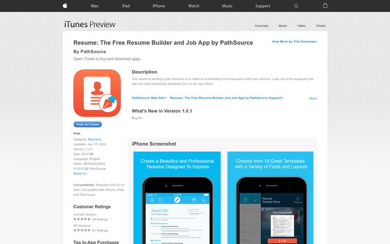 تطبيق Resume يقدم لك 20 نموذج مختلف لإنشاء سيرتك الذاتية