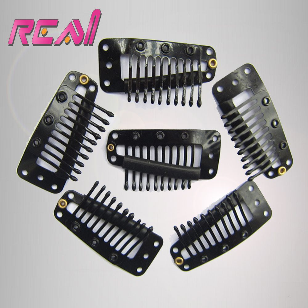100pcslot 38mm 10 Teeth Wig Hair Clips Snap Clips For Hair