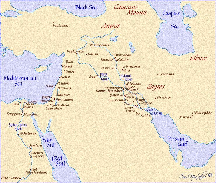 Maps of the Cities of the Ancient Middle East. | Van waar Gehasi ...