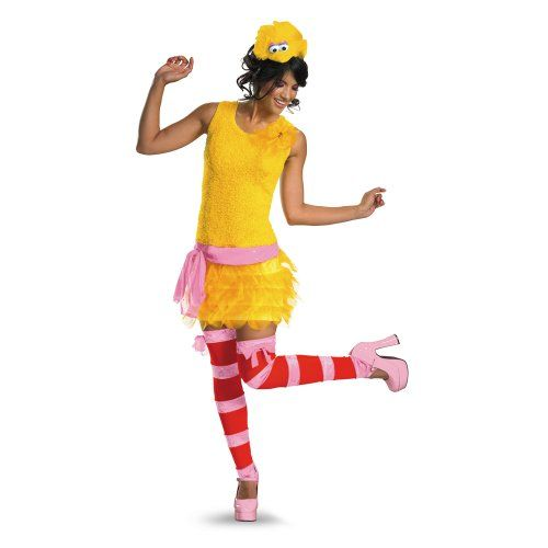 Disguise Adult Sassy Female Big Bird YellowOrangePink Medium 810 Costume ** Be sure to check  sc 1 st  Pinterest & Disguise Adult Sassy Female Big Bird YellowOrangePink Medium 810 ...