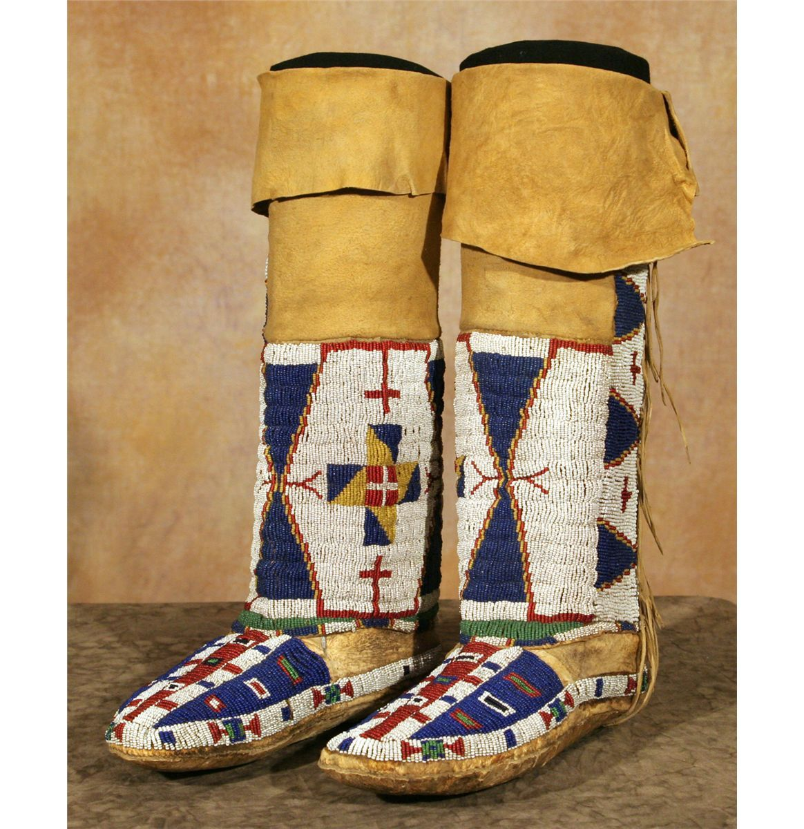 Native American Beaded Moccasins and Leggings