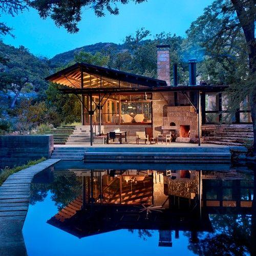 Beautiful Lake House Decor Inspiration: Miller Residence, TX. Architect Steve Raike, Lake Flato