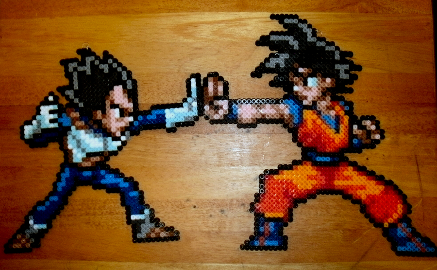 Goku Vegeta Perler by genjiworks on DeviantArt
