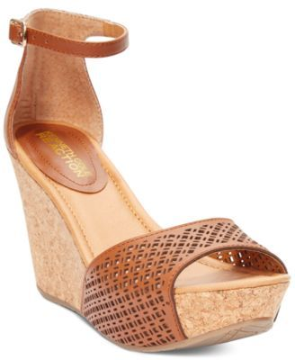 Kenneth Cole Reaction Sole Ness Platform Wedge Sandals - Shoes - Macy's