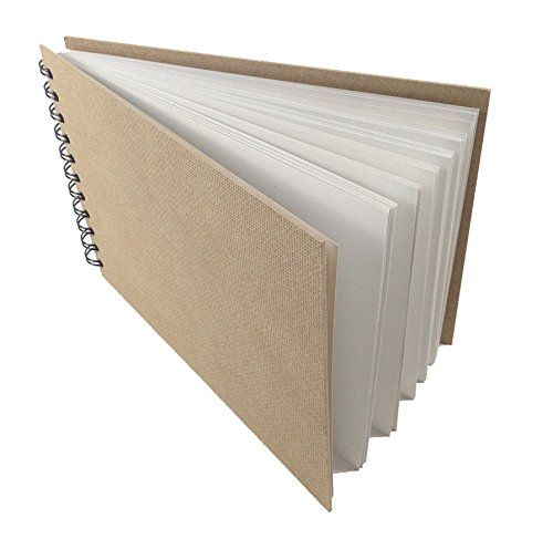 KRAFT card hardback cover scrapbook pad wirobound sketch book arts 60 page recyc