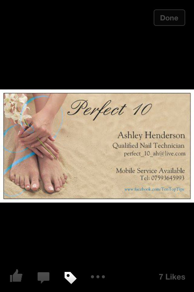 New business cards for Perfect 10 Gel nails belfast | salon ideas ...