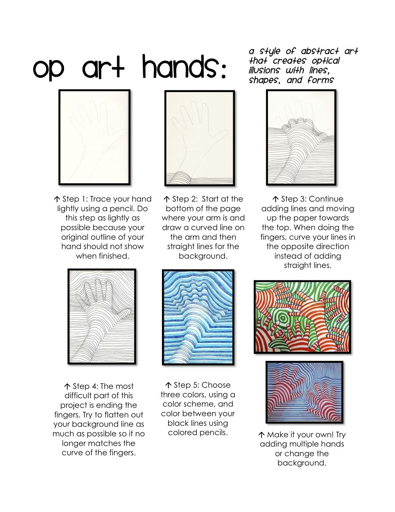Image Result For Op Art Worksheet In With Images
