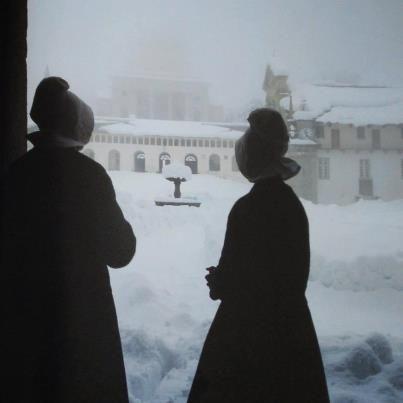 santuario di oropa - nevicata