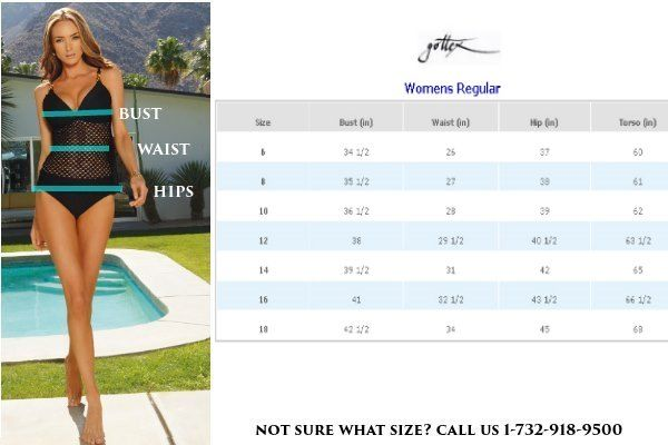 Profile By Gottex Size Chart | Profile by Gottex | Underwire