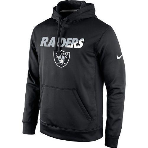 1051c4045 Men s Oakland Raiders Nike Black Kick Off Staff Performance Pullover Hoodie