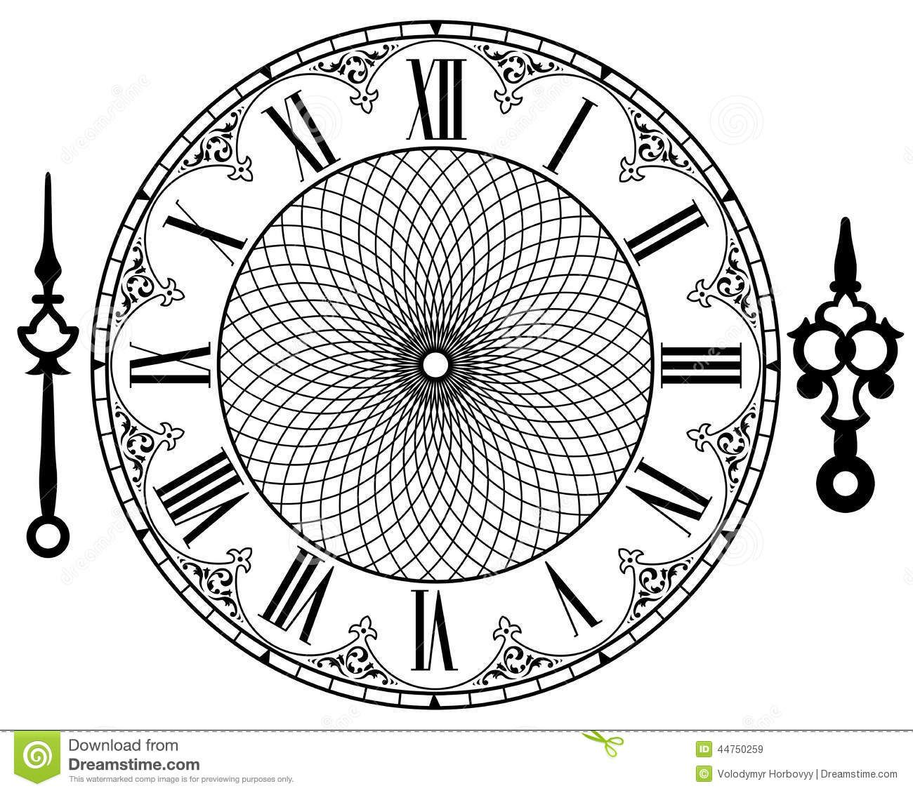 Vintage Clock Clipart Clipart Suggest Clock template