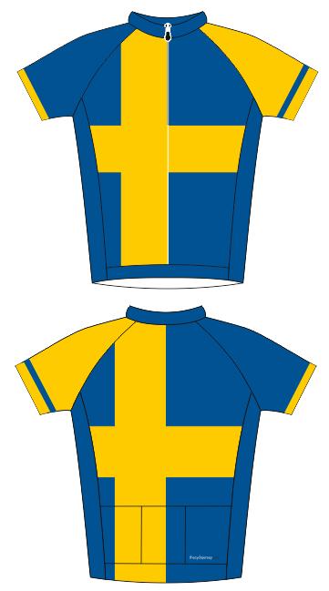 Simple yet effective Swedish flag jersey.  74f492733