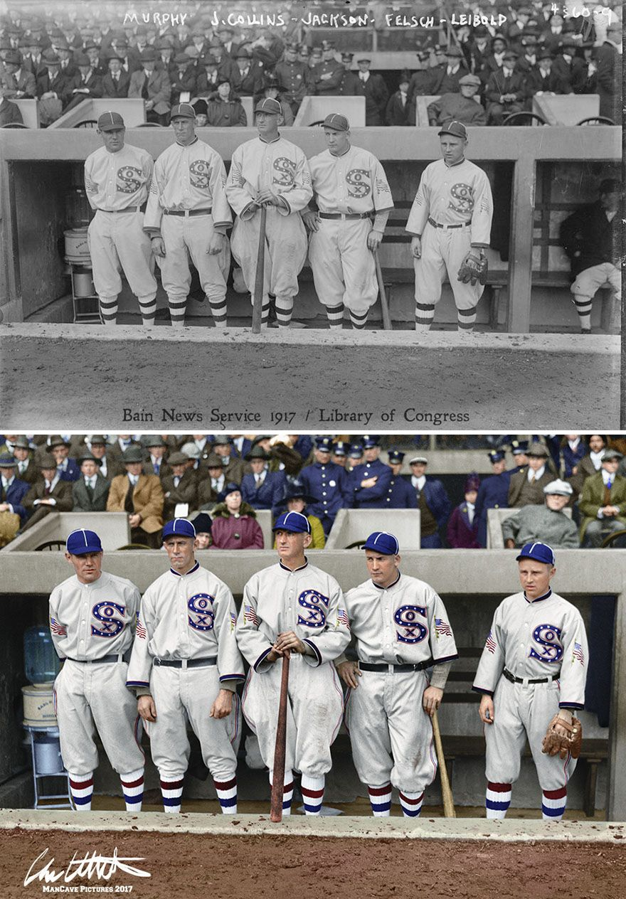 Photo of I Restored And Colorized Century-Old Photos From Major League Baseball
