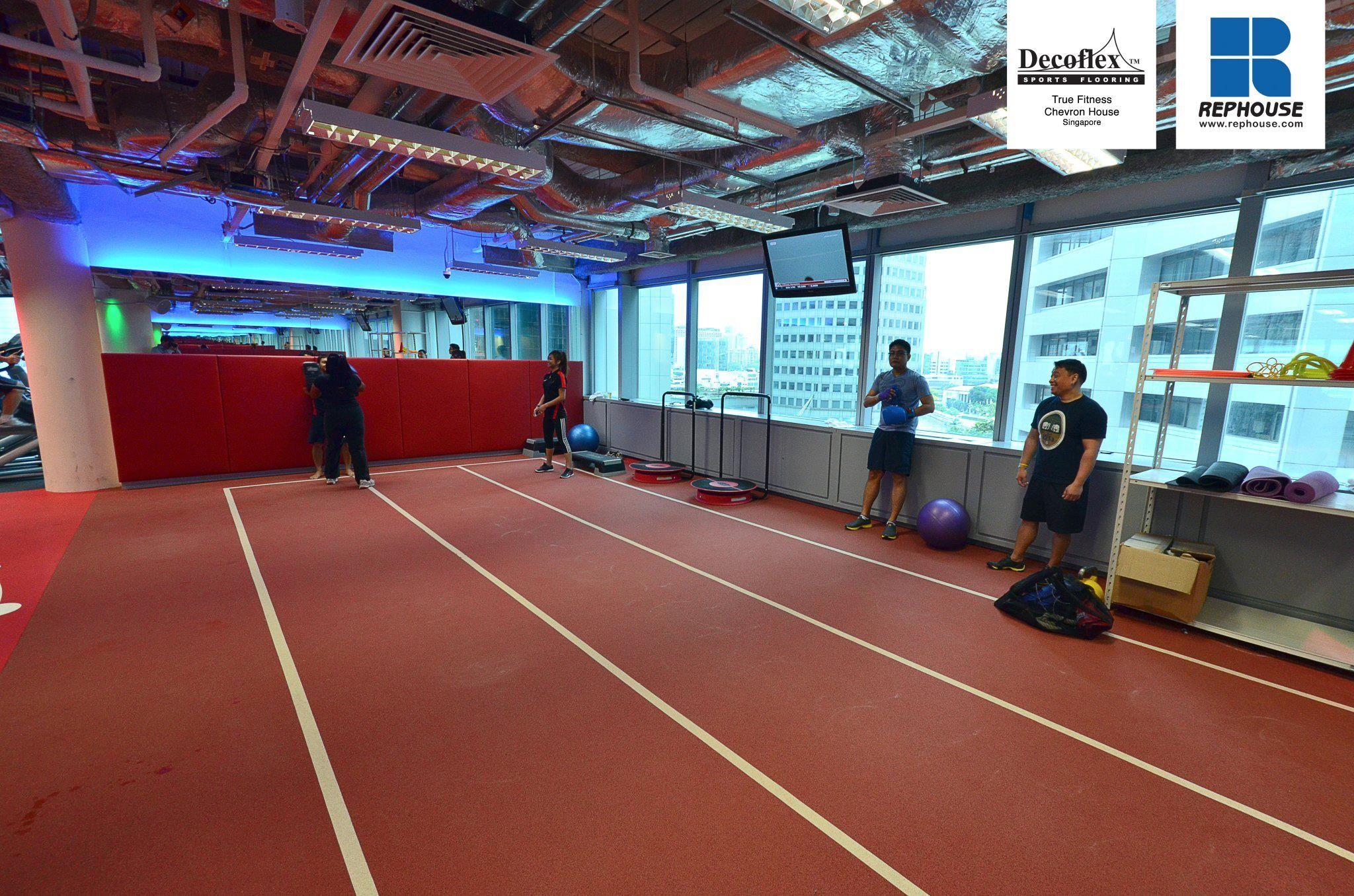 Decoflex Indoor Sprint Fitness Running Track True Fitness Chevron House Singapore Running Track Singapore Fitness