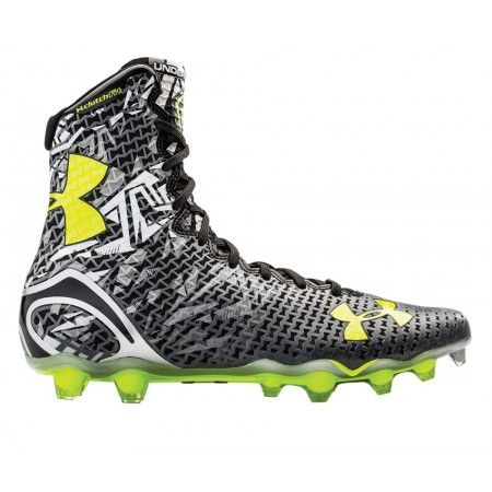 00c11abc50a02 #LacrosseUnlimited Under Armour Highlight Lacrosse Cleats in Black/Gray.#lax  #UA #Highlight