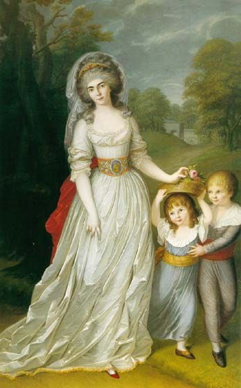 """Auguste Wilhelmine Maria Hesse Darmstadt and Her Children"" by an unknown artist (1790)"
