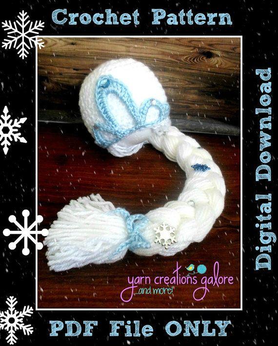 Elsa Hat Crochet PatternDigital Download by YarnCreationsGalore