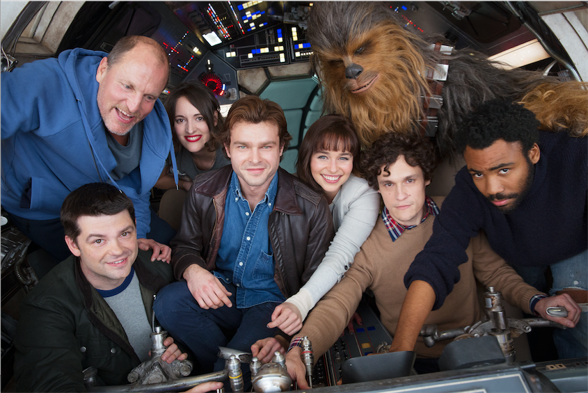 Han Solo Spinoff Film Cast Climbs Aboard the Millennium Falcon - LaughingPlace.com