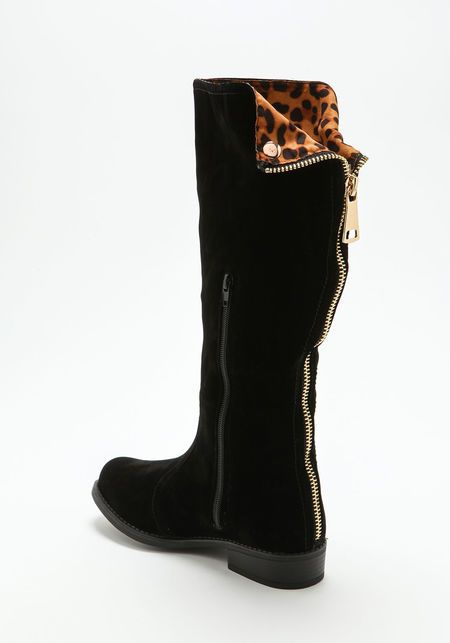 Leopard Fold Over Boots, LEOPARD 33.95