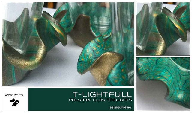 Polymer clay tealights