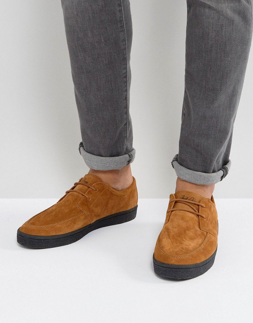 Men Fred Perry Shields Crepe Trainers Tan