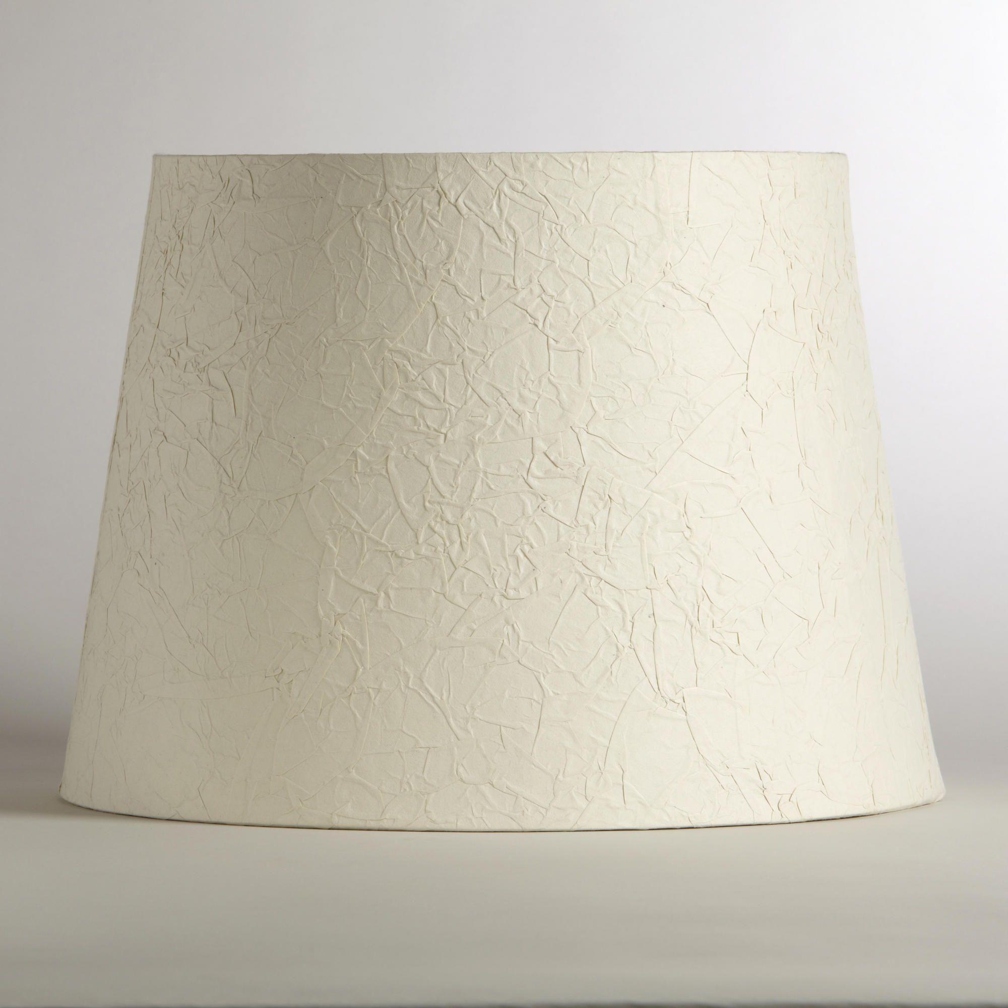 World Market Lamp Shades Crinkled White Paper Table Lamp Shade  World Market  Things  To