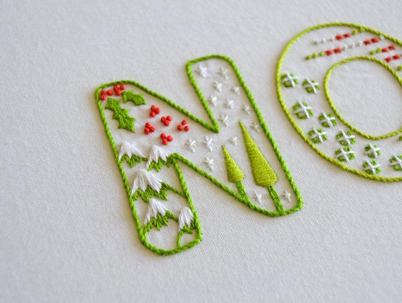 Noel Hand Embroidery Pattern A Modern Embroidery Pdf Pattern Etsy In 2021 Hand Embroidery Patterns Hand Embroidery Designs Hand Embroidery