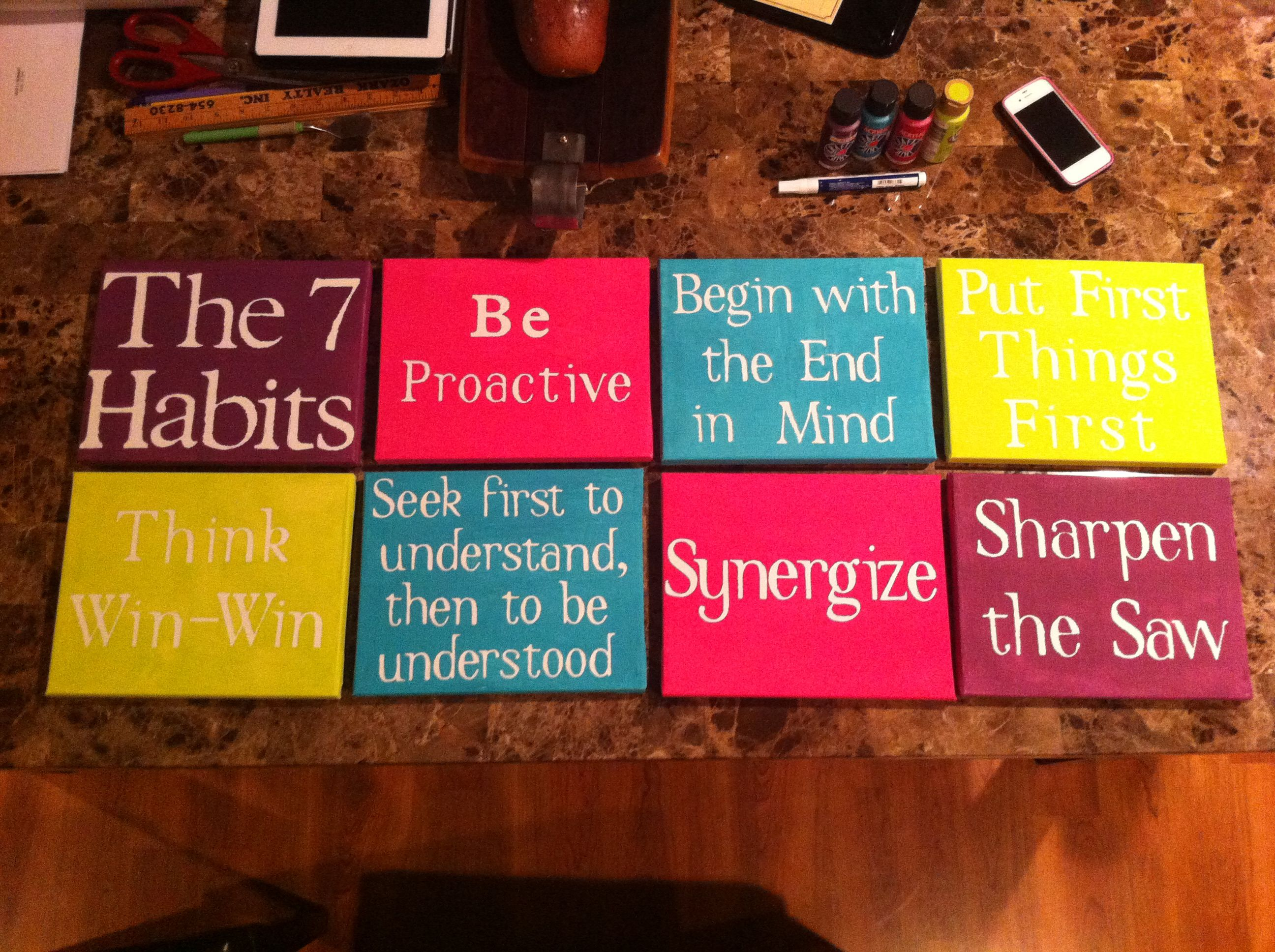 Colorful 7 Habits Of Highly Effective People Wall Art