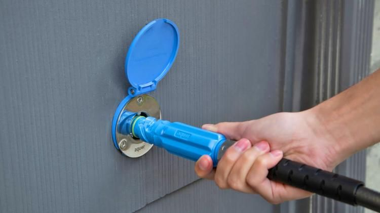 Aquor Turns Your Outdoor Spigot Into A Hydrant Connection A Frame House Kits Hydrant Water Systems