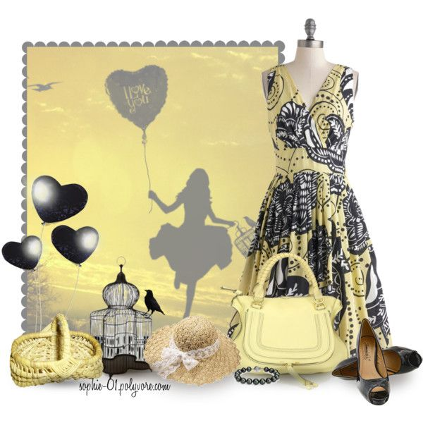 Black and Yellow, created by sophie-01 on Polyvore
