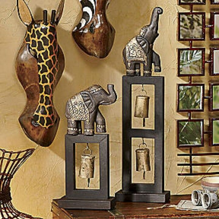 elephant decor savannah themed home d co int rieur jungle tropicale pinterest. Black Bedroom Furniture Sets. Home Design Ideas