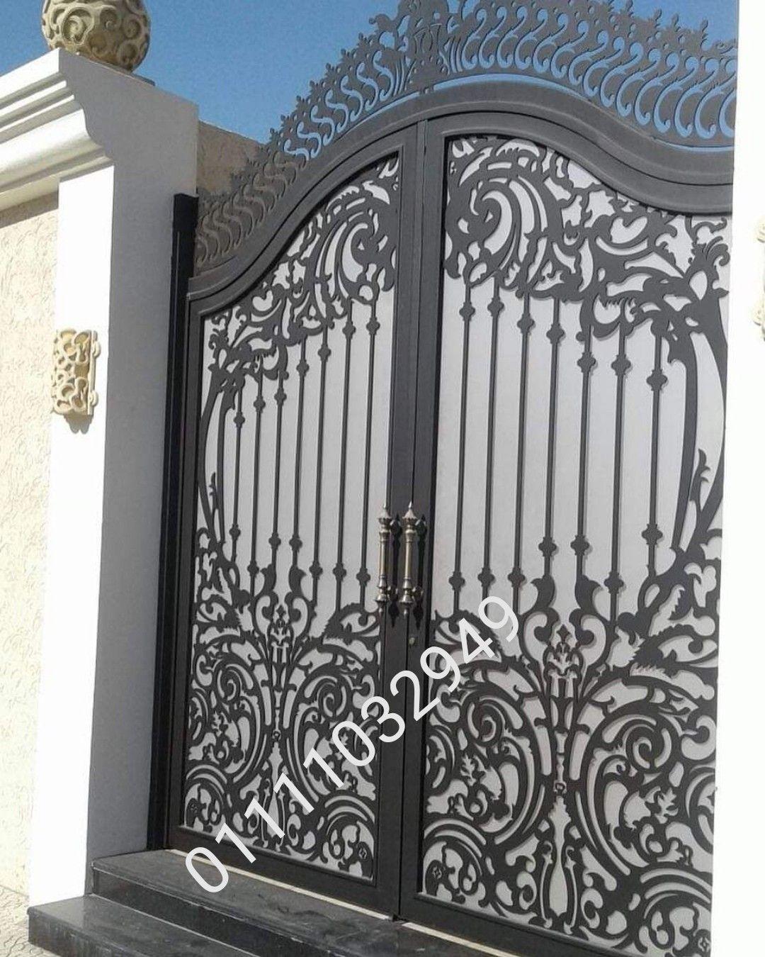 بوابات حديد للفيلات بشكل عصري Door Gate Design Gate Design Privacy Screen Outdoor