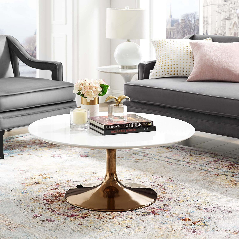 Lippa 36 Coffee Table Eei 3253 Ros Whi Modway Furniture Coffee Tables Coffee Table Coffee Table Wood Unique Coffee Table Design [ 1500 x 1500 Pixel ]