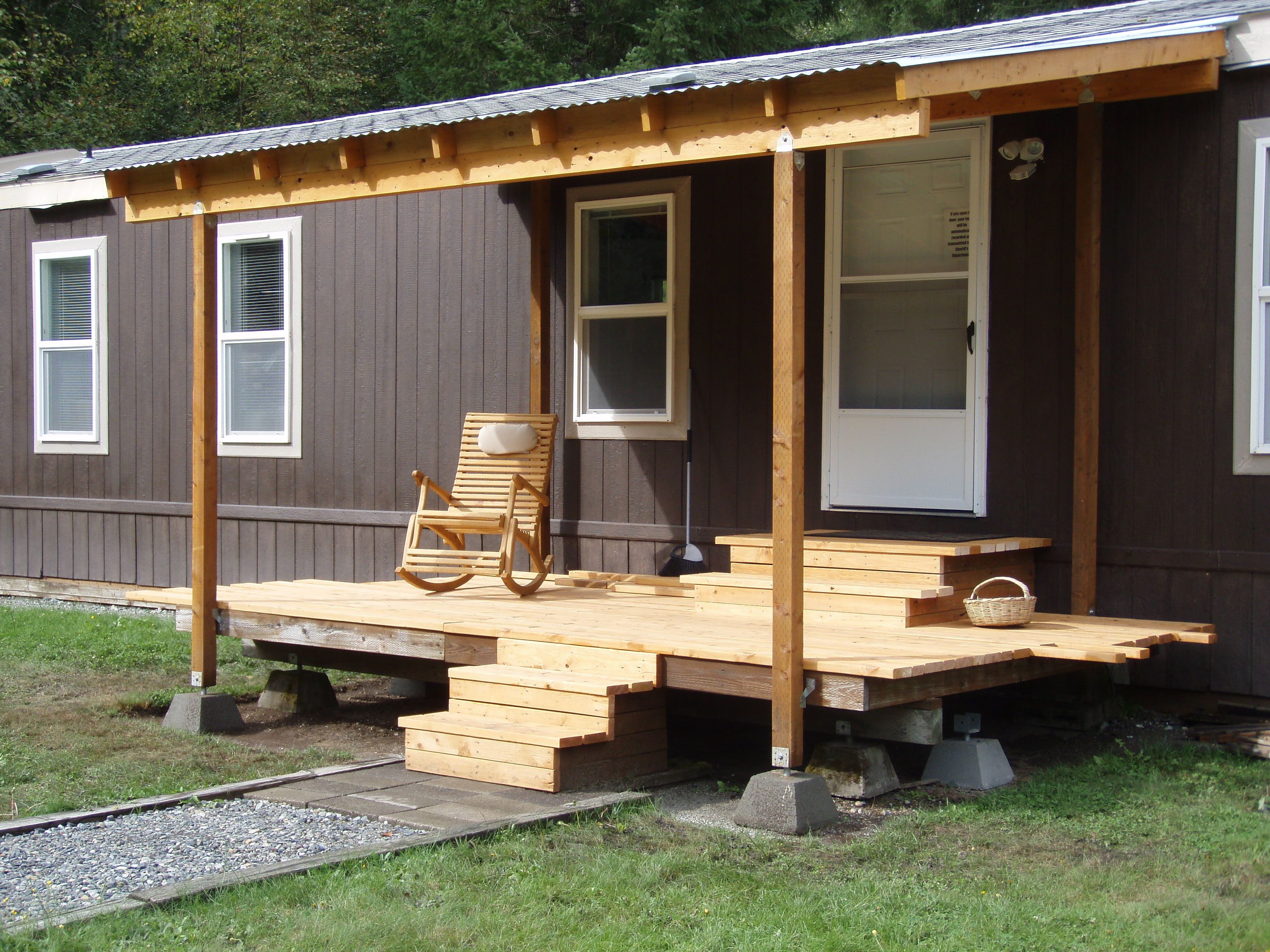 Covered deck addition design in construction tagged for Design my mobile home