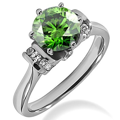Green Diamond Solitaire Rings Engagement Matching Sets And Wedding Bands Our Are Available In Or Gold Platinum
