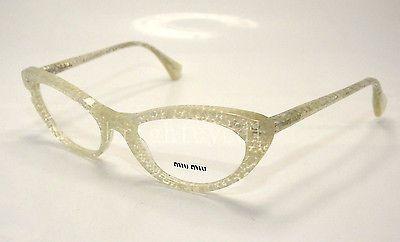 6a7d963f8cb Authentic MIU MIU Silver Glitter Rx Eyeglasses MU 03LV - KAR1O1  NEW  50mm
