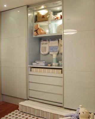 Trocador integrado ao guarda roupa baby decor - Armarios de bebes ...