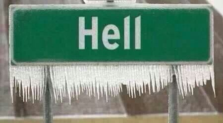 Looks like it actually did freeze over........